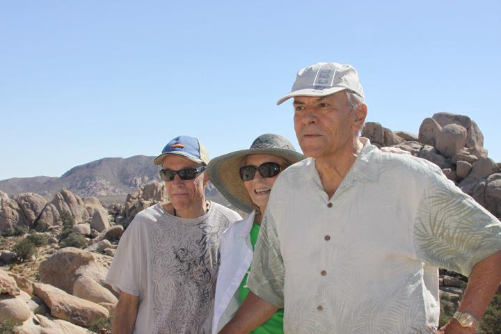 Stan, Christina and Tav at Joshua Tree